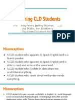 teaching cld students artifact