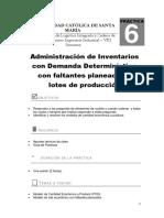 Práctica N°6_Administración de inventarios con demanda determinística