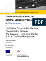 Rethinking Timorese Identity as a Peace Building Strategy