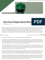 New Power Rangers Movie