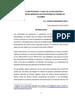 Régimen Constitucional y Legal de La Exploración y Explotación de Minerales