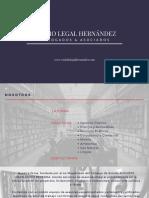 Estudio Legal Hernández Brochure - www,estudiolegalhernandez.com - Augusto Hernández Becerra