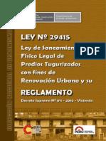08 LEY 29415 y Su Reglamento