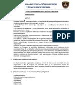 Preguntas y Respuestas Examen Final Adm. Logistica
