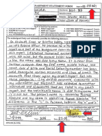 Honolulu Police Department Form - Report No. 09-278361