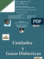 Diapositiva de La Exposiciónsobre Las Unidades y Guías Didácticas MGE 440