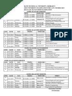 Date Sheet Law 15 Jan 2014