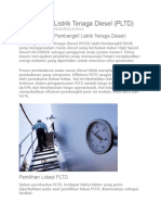 Pembangkit Listrik Tenaga Diesel PLTD