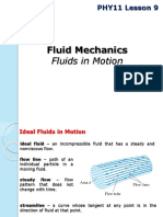 PHY11 Lesson 9 Fluids in Motion