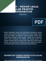 Prinsip – Prinsip Legal Dalam Praktik Keperawatan
