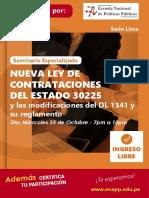Brochure II - Seminario -Contrataciones - Sede Lima - Enapp