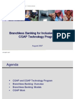 Branch Less Banking for Inclusive Finance Cgap Technology Program1