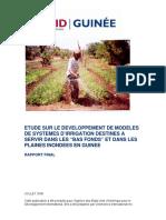 Etude Sur Le Developpement de Modeles d'irrigation