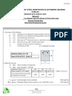 5321 Elastomeric Bearing Design AASHTO for P18 & P19 A