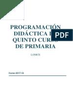 Programación 5º 2017-18