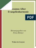 Alber, Erasmus-Evangelienharmonie-Walter de Gruyter (2009)
