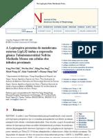 A Leptospira proteína de membrana externa LipL32 induz a expressão gênica Tubulointerstitial Nefrite Mediada Mouse em células dos túbulos proximais