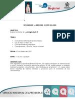 Resumen de Sesion en Linea 2