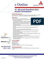 Microsoft SharePoint 2010 Application Development