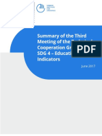 UNESCO (2017) Summary of the 3rd TCG Meeting on SDG 4 - Education 2030 Indicators