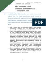 Gs - II Mock Test - Key PDF