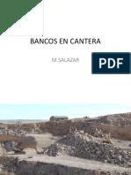 Bancos en Cantera