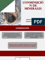 Conminución de Minerales