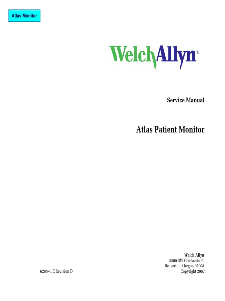 Welch Allyn Atlas Patient Monitor Service Manual 2007pdf 3a Switching Power Supply Regulator 5v 10a 50w Offline Electronic Circuits Amplifier