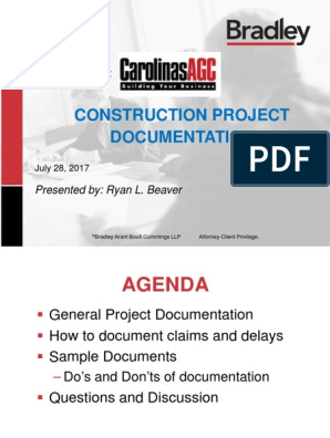 Construction Project Documentation: Presentation to