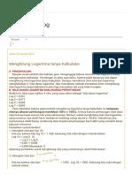 Menghitung Logaritma Tanpa Kalkulator