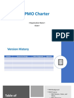 PMO Charter Template with Example