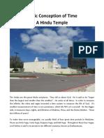A Hindu Temple Lesson