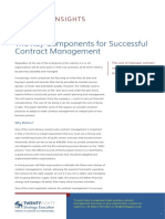 The Key Components for Successful Contract Management