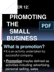 Chapter 12.Promoting the Small Business (Group 9)