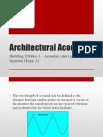Architectural Acoustics 2