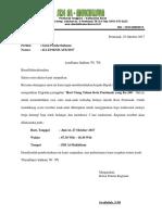 Surat Pemberitahuan Kegiatan Sekolah Peringatan Hut Pontianak