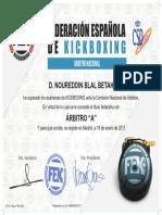 "ARBITRO NACIONAL Nivel ""A"" by FEK - CSD"