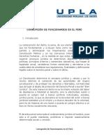 Corrupción de Funcionarios en El Perú- Resumen