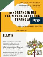 Importancia Del Latín Para La Lengua Española