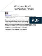 Six Things Everyone Should Know About Quantum Physic1