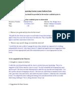 social studies ct feedback form