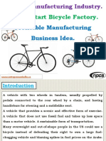 Bicycle Manufacturing Industry. How to Start Bicycle Factory. Profitable Manufacturing Business Idea.