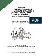 Laporan Panitia Qurban 1431 2011 Edisi Kecil