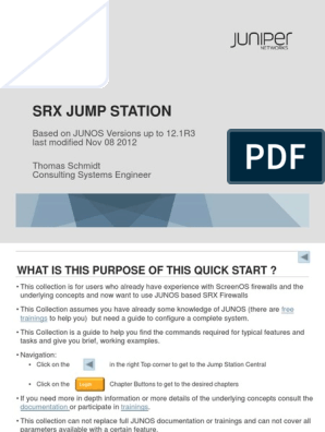 Juniper SRX Quickstart 12 1R3 by Thomas Schmidt | Command