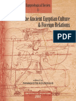 Studies on the Ancient Egyptian Culture