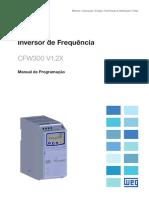 WEG Manual de Programacao Cfw300 v1.2x 10003424521 Pt