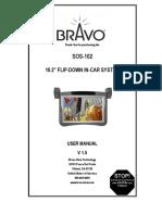 DVD FlipDown SOS 102 Manual