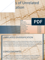 Strategies of unrelated diversification