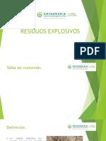 Residuos explosivos