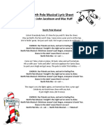 North Pole Musical Lyrics